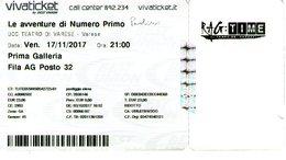 B 1781 - Biglietto D'ingresso, Paolini, Teatro Di Varese - Biglietti D'ingresso