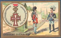 Chromo Chocolat Guerin-Boutron Décorations Françaises Et étrangères Ordre Du Daneborg Danemark Waldemar II 1219 - Guerin Boutron