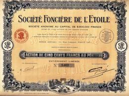 SOCIÉTÉ FONCIÈRE DE L'ETOILE - Industrie