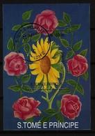 S. TOMÉ E PRINCIPE - Block Mi-Nr. 302 Sonnenblume Gestempelt - Sonstige