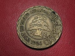 Syrie - Grand Liban - 5 Piastres 1924 7909 - Syrie