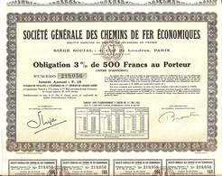 SOCIÉTÉ GÉNERALE DES CHEMINS DE FER ÉCONOMIQUES S. A. - Railway & Tramway