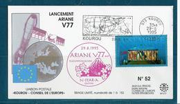 ESPACE - ARIANE Vol Du 1995/08 V77 - Conseil De L'Europe - 1 Document - Europe