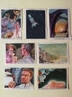 Lot Of 7 SPACE CARDS - Morgen Gebeurt Het - SPIRIT GICARETTES CARDS 1959 - SCI -FI - UFO - OVNI - SOUCOUPE - Other