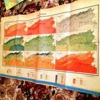 ALGERIE- CARTE CLIMATOLOGIE-CARTE EPOQUE COLONIALE FRANCAISE-1928 - Cartes Géographiques
