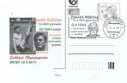 Czech Republic 2018 - Nice Czechoslovak Gymnast Z. Ruzicka -special Postal Stationery And Cancellation - Gymnastik