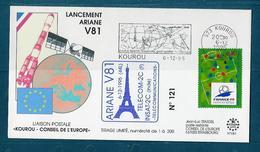 ESPACE - ARIANE Vol Du 1995/12 V81 - Conseil De L'Europe - 1 Document - Europe