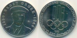 DDR Medaille Olympiade, Ernst Grube, Förderung Olympischen Gedankens 1983 - Other