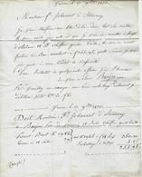 1833 RARE LETTRE Vienne Barjon Père  Livraison De Chiffons Grosse Toile  à Johannot Fabricant Papier à Annonay - Manuscripts