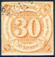 Germania Thurn Und Taxis S 1859 UN N. 41 K. 30 Arancio Usato Cat. € 400 - Thurn Und Taxis
