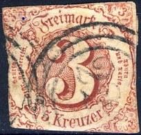 Germania Thurn Und Taxis S 1862 UN N. 42 K. 3 Carminio Usato Cat. € 28 - Thurn Und Taxis