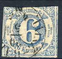 Germania Thurn Und Taxis S 1862 UN N. 43 K 6 Azzurro Usato Cat. € 28 - Thurn Und Taxis