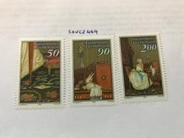 Liechtenstein Art The Letter In Paintings 1988 Mnh - Liechtenstein
