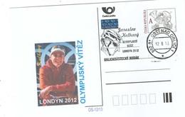 Czech Republic 2013 - J. Kulhavy, Olympic Winner,  Special Postal Stationery And Cancellation - Mountain Bike