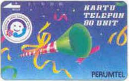 INDONESIA : 014 (91) SENYUM... 80 U Clarinet Brown Rev. USED - Indonésie