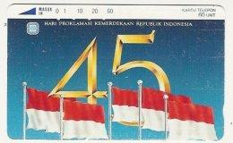 INDONESIA : 040 45+Flags  60 Units USED - Indonesia