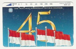 INDONESIA : 044 45+Flags 400 Units USED - Indonésie