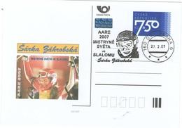 Czech Republic 2007 - S. Zahrobska, World Winner In Slalom, Special Postal Stationery And Cancellation - Jet Ski
