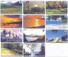 INDONESIA : 156/66 11 CARD SET INDONESIAN SCENERIES USED - Indonesia