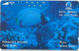 INDONESIA : 209 140u Corals And Emperor Angelfish USED - Indonesien