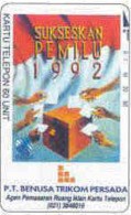 INDONESIA : P056 60u (Bank) P.T. BENUSA TRIKOM PERSADA-8 USED - Indonesia
