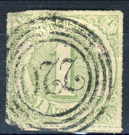 Germania Thurn Und Taxis S 1865 UN N. 45 Kr 1 Verde Giallo Usato Cat. € 20 - Thurn Und Taxis