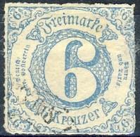 Germania Thurn Und Taxis S 1865 UN N. 47 K 6 Azzurro Usato Cat. € 30 - Thurn Und Taxis
