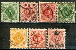 Germania Wurttemberg 1875 - 1906 UN Sette Valori Usati Cat. € 7 - Wuerttemberg