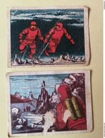 """Lot Of 2 SPACE CARDS - SPANISH """"WAR IN THE SPACE"""" 1966 - SCI -FI - UFO - OVNI - SOUCOUPE - Confectionery & Biscuits"""