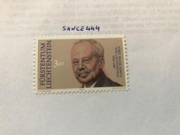 Liechtenstein Memorial Issue 3.00f  Mnh  1990 - Liechtenstein