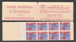 Carnet Marianne à La Nef 8 Timbres Série  01-60  Yv 1234-C1 - Carnets