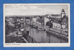 CPA - HAFFBAD UECKEMÜNDE - Bateau Au Port - H. Seng Photographe - Boat Ship Eglise Kirche - Allemagne