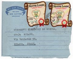 SIERRA LEONE - AIR LETTER/AEROGRAMME TO ITALY 1969 / THEMATIC STAMPS-POSTAL HISTORY - Sierra Leone (1961-...)