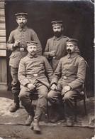 Foto Deutsche Soldaten Mit Bärten - 13*9cm - 1. WK (34216) - Guerre, Militaire