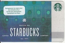 GREECE - Starbucks Coffee Company, Starbucks Card, CN : 6148, Unused - Gift Cards