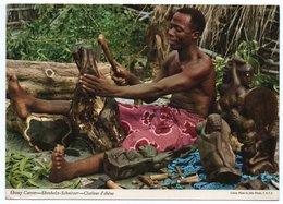 AFRICA - EBONY CARVER (PUBL. JOHN HINDE) / CIRCULATED FROM SIERRA LEONE - 1974 - Sierra Leone