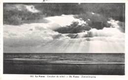 LA PANNE - Coucher De Soleil - DE PANNE - Zonondergang - De Panne