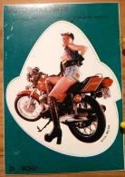 FEMME NUE MOTARDE SEINS NUS MOTO COLLANTS STICKER AUTO-COLLANT SCAN R/V - Fine Nudes (adults < 1960)