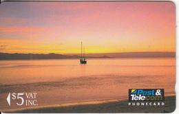 FIJI ISL.(GPT) - Sunrise, Fiji Posts & Telecommunications First Isssue $5, CN : 01FJC, Tirage 20000, Used - Fiji