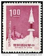 Taiwan 1969 30th Air Defense Day Stamp Rocket Missile Martial Space - 1945-... Republic Of China