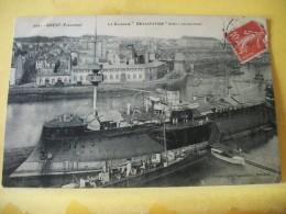 """29 1997 CPA 1909 - 29 BREST. LE CUIRASSE """"DEVASTATION"""" DANS L'AVANT-PORT (+ DE 20000 CARTES A MOINS 1 EURO) - Brest"""
