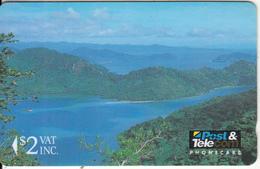 FIJI ISL.(GPT) - Tropical Rainforest, Fiji Posts & Telecommunications First Isssue $2, CN : 01FJB, Used - Fiji