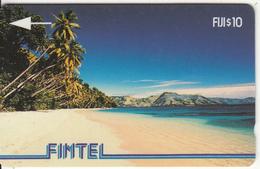 FIJI ISL.(GPT) - Palms & Beach, FINTEL First Issue $10, CN : 1CWFB, Tirage 10500, Used - Fiji