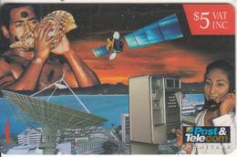 FIJI ISL.(GPT) - Satellite, Cardphone, CN : 13FJC, Tirage 61850, Used - Fiji