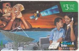 FIJI ISL.(GPT) - Satellite, Mother & Child, CN : 13FIB, Used - Fiji