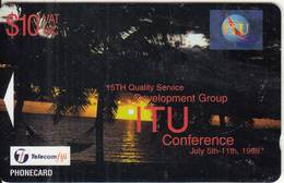 FIJI ISL.(GPT) - ITU/Sunset, CN : BCFJD, Tirage 1000, Used - Fiji