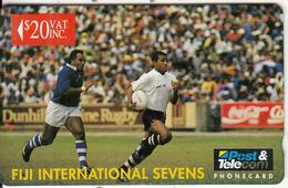 FIJI ISL.(GPT) - FIJI International Sevens Rugby/Waisele Serevi, CN : 03FJE, Tirage 1000, Mint - Fiji