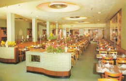 Boston Massachusetts, Dini's Restaurant Interior View, C1950s Vintage Postcard - Boston