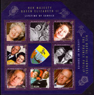 St Helena 2011 Queen Elizabeth A Lifetime Of Service 1st Souvenir Sheet Unmounted Mint. - Saint Helena Island