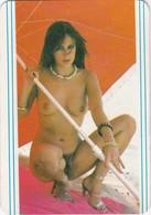 PORTUGAL POCKET CALENDAR 1985 - NUDE WOMAN - FEMME NUE - Calendars